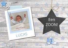 felicitatie geboorte jongen ster