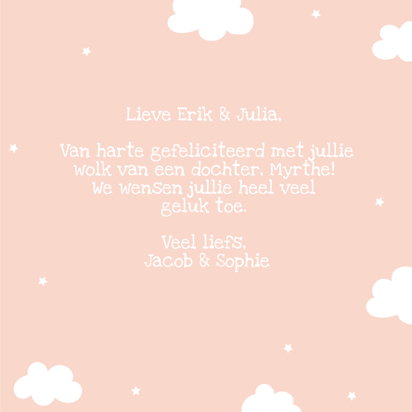 Felicitatie geboorte Meisje - Dream Big Little One 3