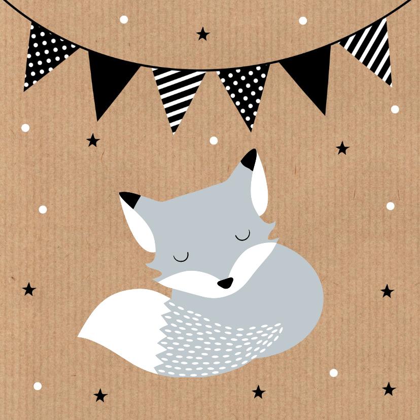 Felicitatie geboorte vosje kraft 2
