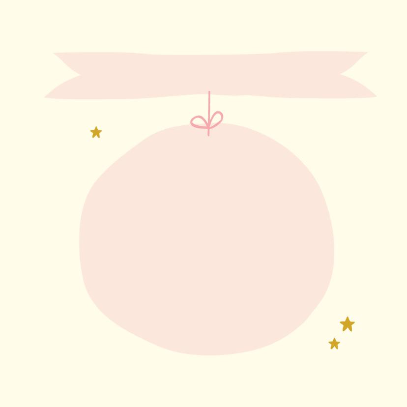 Felicitatie geboorte wolk roze 3