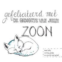 Felicitatiekaarten - Felicitatie geboorte zoon vosje