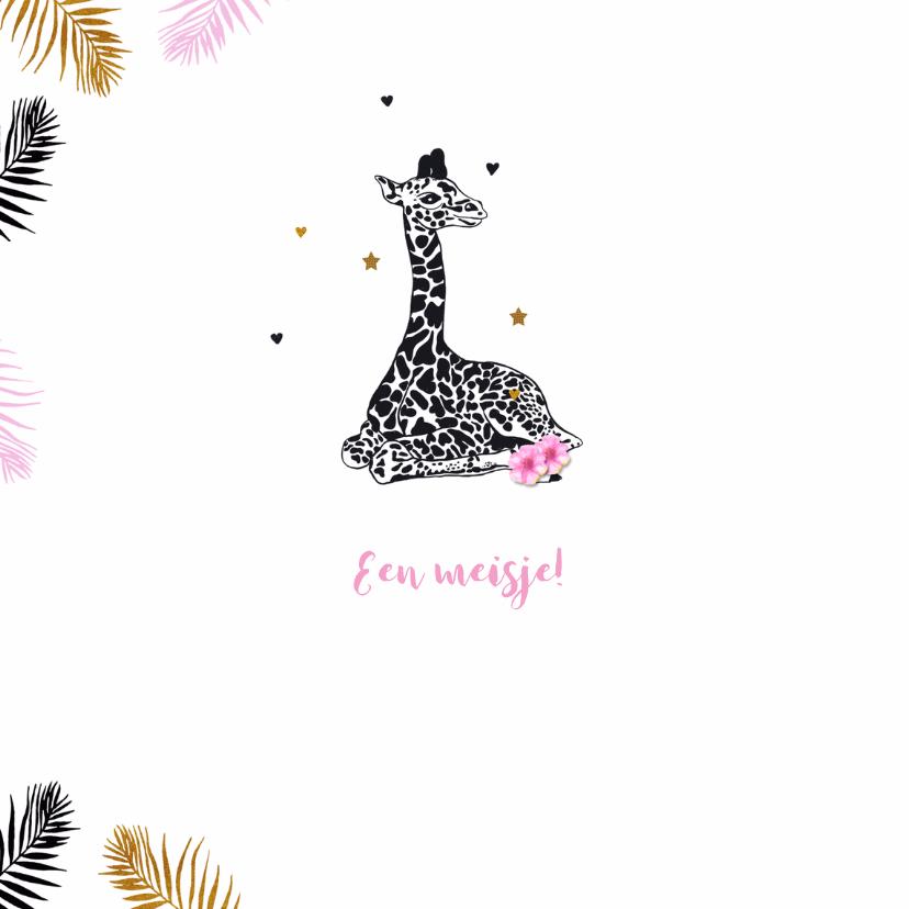 Felicitatie giraffe meisje 2
