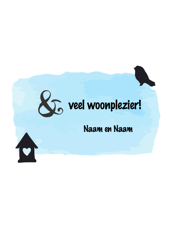 Felicitatie Happy new home - zwart wit 3