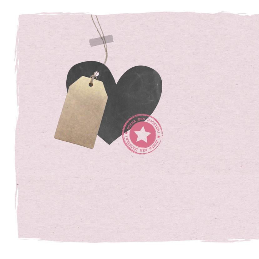 Felicitatie - Hart, label meisje 2