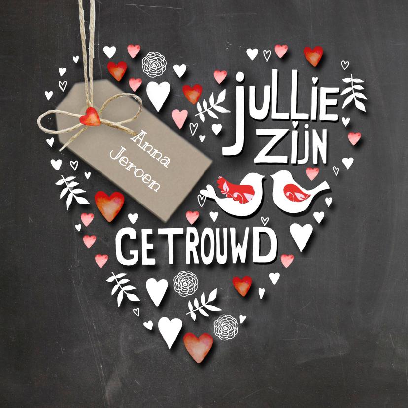Felicitatie hart trouwen felicitatiekaarten kaartje go