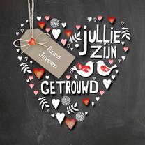 Felicitatiekaarten - Felicitatie hart trouwen