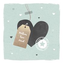 Felicitatiekaarten - Felicitatie - Hartje, label zoon