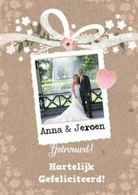 Felicitatiekaarten - Felicitatie huwelijk foto