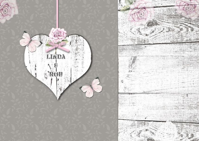 felicitatie  huwelijk hart en vlinders 2