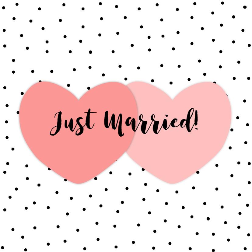 Felicitatie huwelijk hart ww felicitatiekaarten