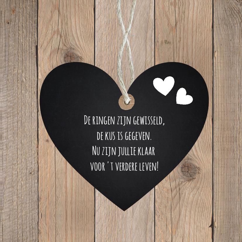 Felicitatie huwelijk hartje houtlook  2