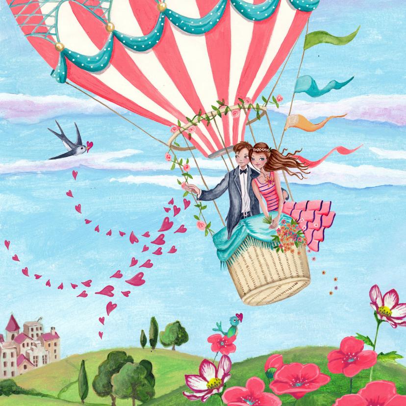 Felicitatie huwelijk luchtballon felicitatiekaarten
