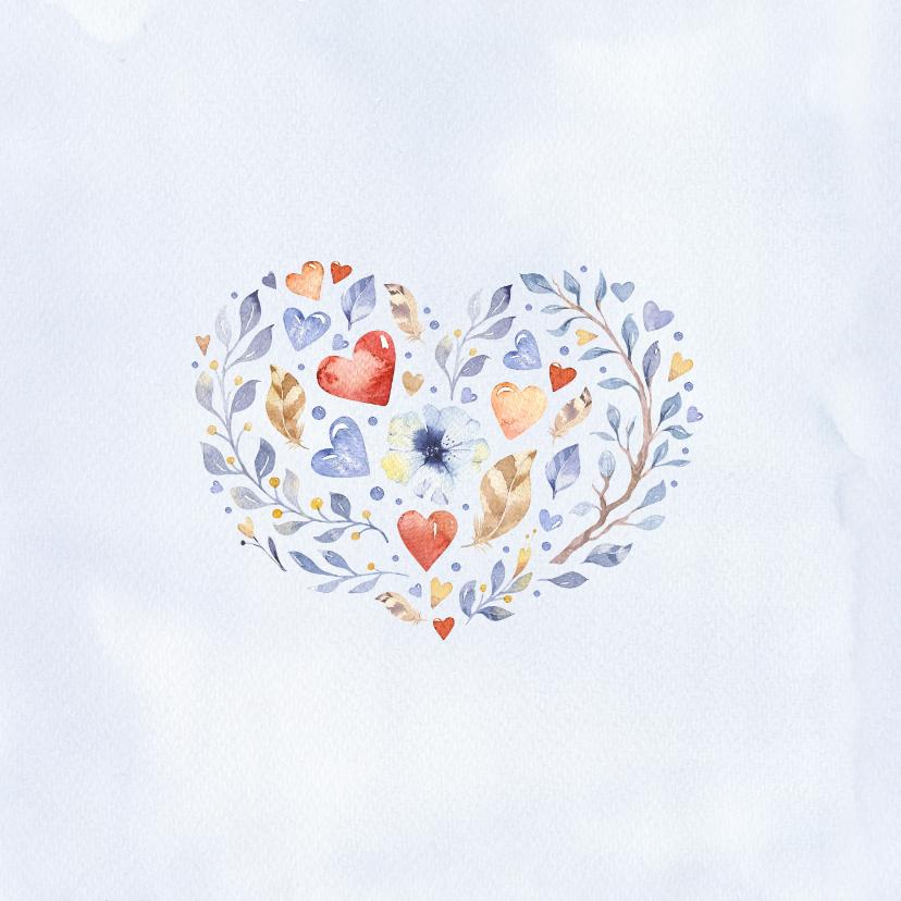 Felicitatie huwelijk uil met hart 2