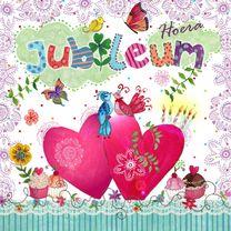 Felicitatiekaarten - Felicitatie Huwelijksjubileum Wolk Hart