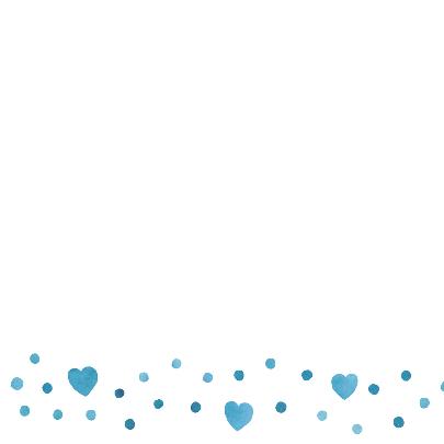 Felicitatie jongen blauw hart 2