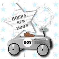 Felicitatiekaarten - Felicitatie jongen loopauto