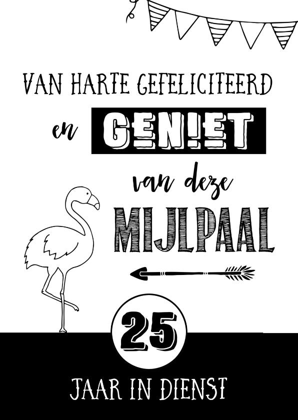 Verjaardag 40 Jaar Kleurplaat Felicitatie Jubileum 25 Jaar In Dienst Kaartje2go