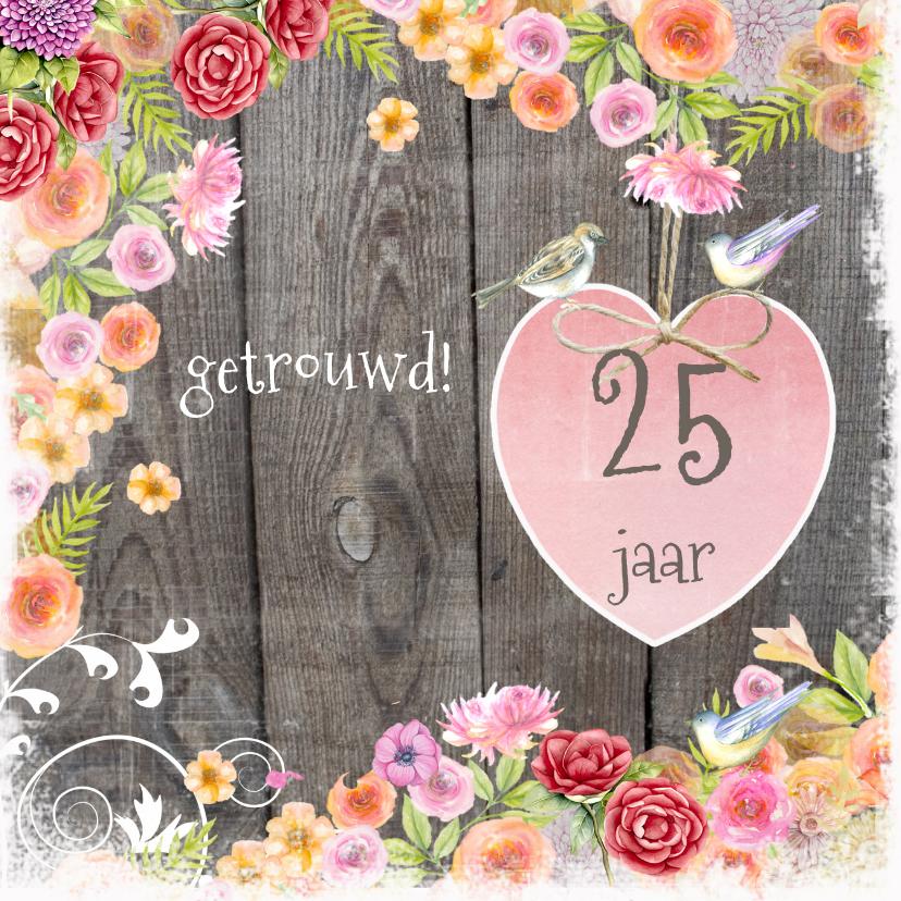 felicitatie 25 jaar getrouwd Felicitatie Huwelijk 25 Jaar   ARCHIDEV felicitatie 25 jaar getrouwd