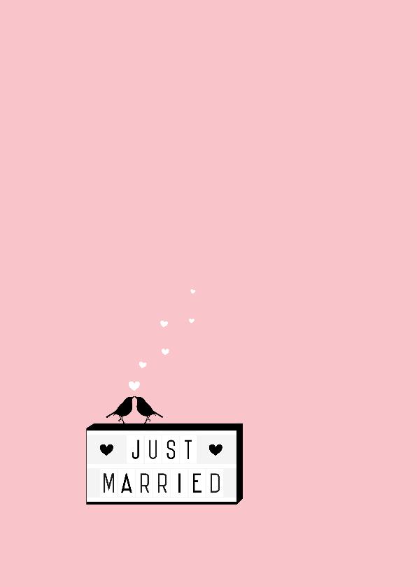 Felicitatie - Lightbox, married 2