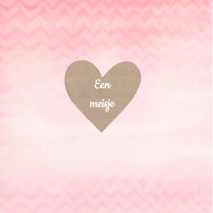 Felicitatie meisje hart chevron 2
