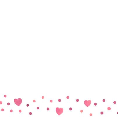 Felicitatie meisje roze hart 3