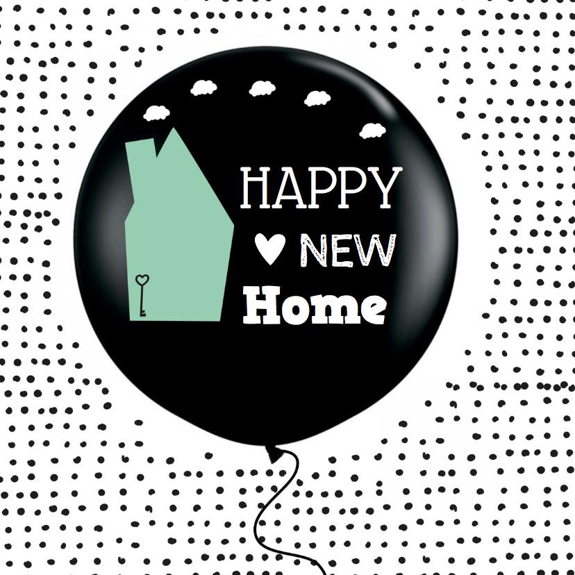 Geliefde Felicitatie Nieuwe woning ballon - Felicitatiekaarten - Kaartje2go #MQ68
