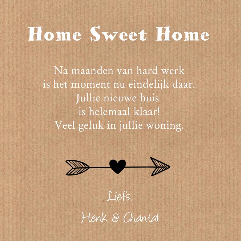 Felicitatie nieuwe woning hartjes krijtbord label 3