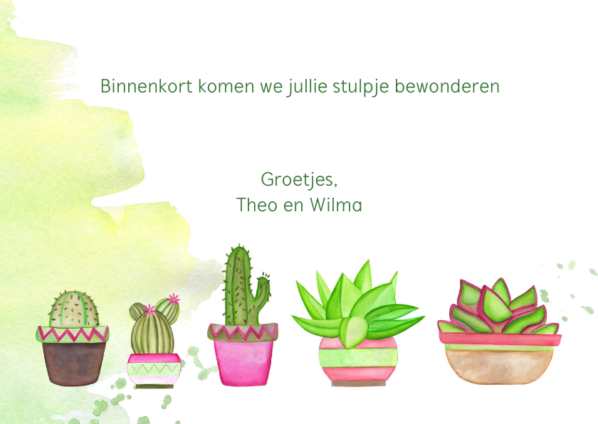 Felicitatie nieuwe woning met cactussen 3