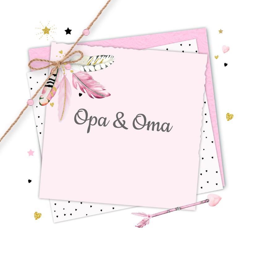 felicitatie opa en oma veertjes 2