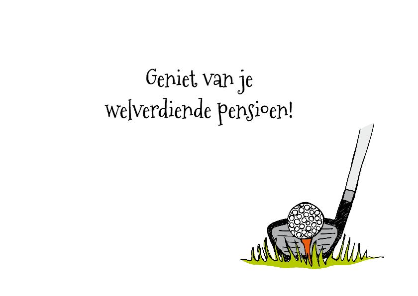 Felicitatie pensioen golf 3