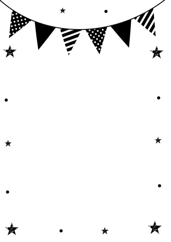 Felicitatie pensioen typografie slinger zwart-wit 2
