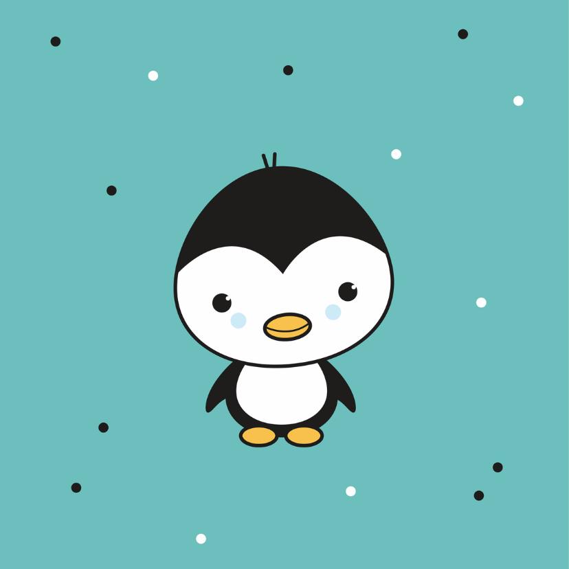 Felicitatie - Pinguïn jongetje 2