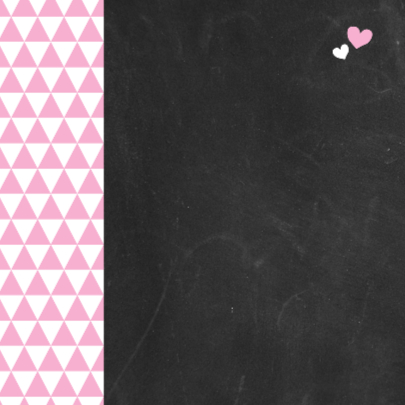 Felicitatie  - roze driehoek 2