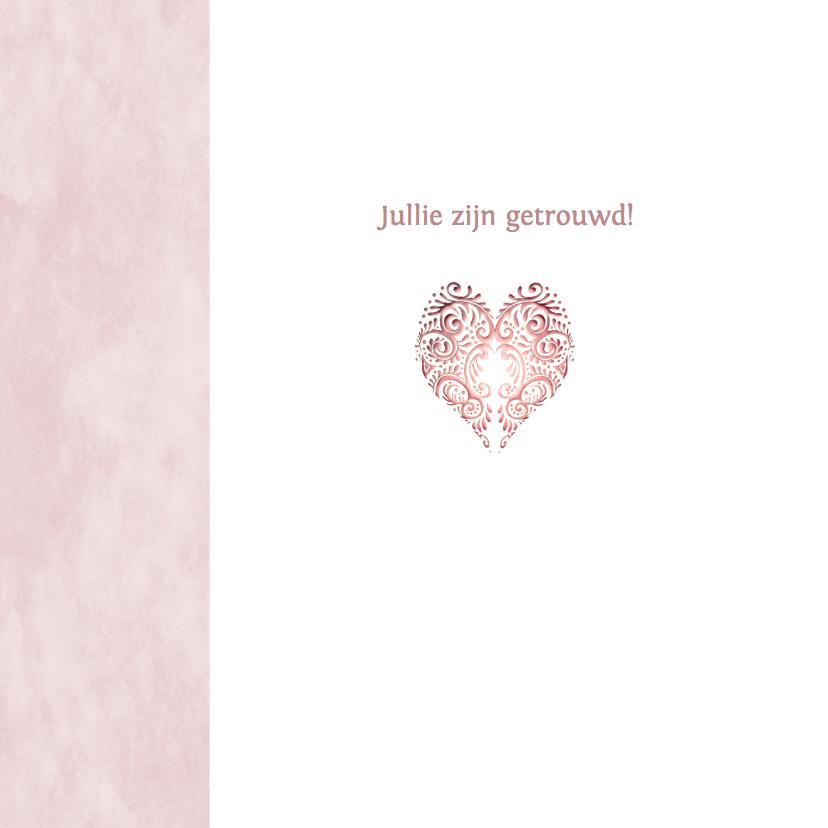 Felicitatie roze hart huwelijk 2