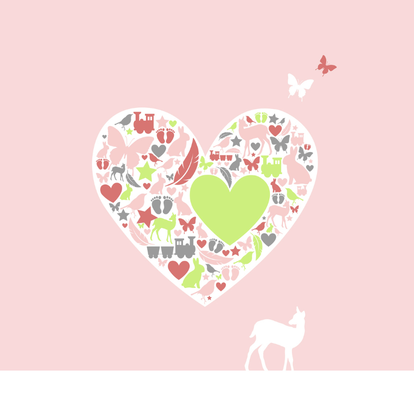 Felicitatie - Silhouet hart dochter 2