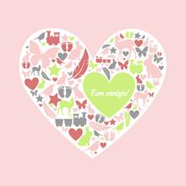 Felicitatiekaarten - Felicitatie - Silhouet hart dochter