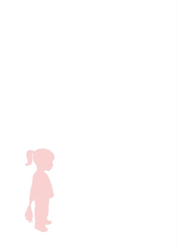 Felicitatie - Silhouet meisje  2