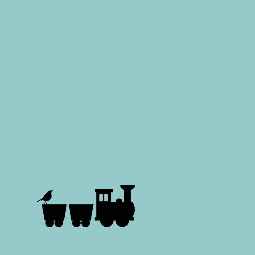 Felicitatie -Silhouet trein zoon 2