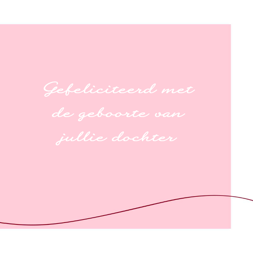 Felicitatie - Simpel hart roze 3