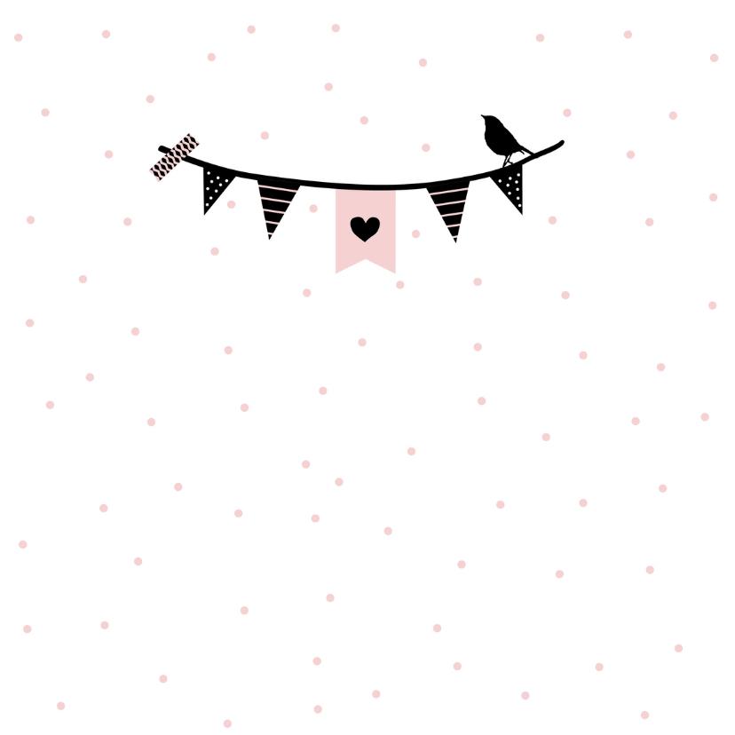 Felicitatie - Slinger meid roze 2