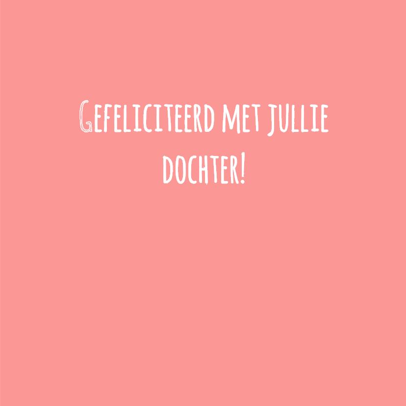 Felicitatie -Slinger, wieg, roze 3