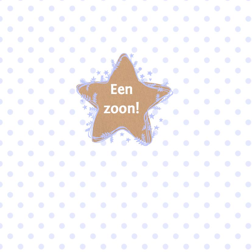 felicitatie ster jongen craft 2