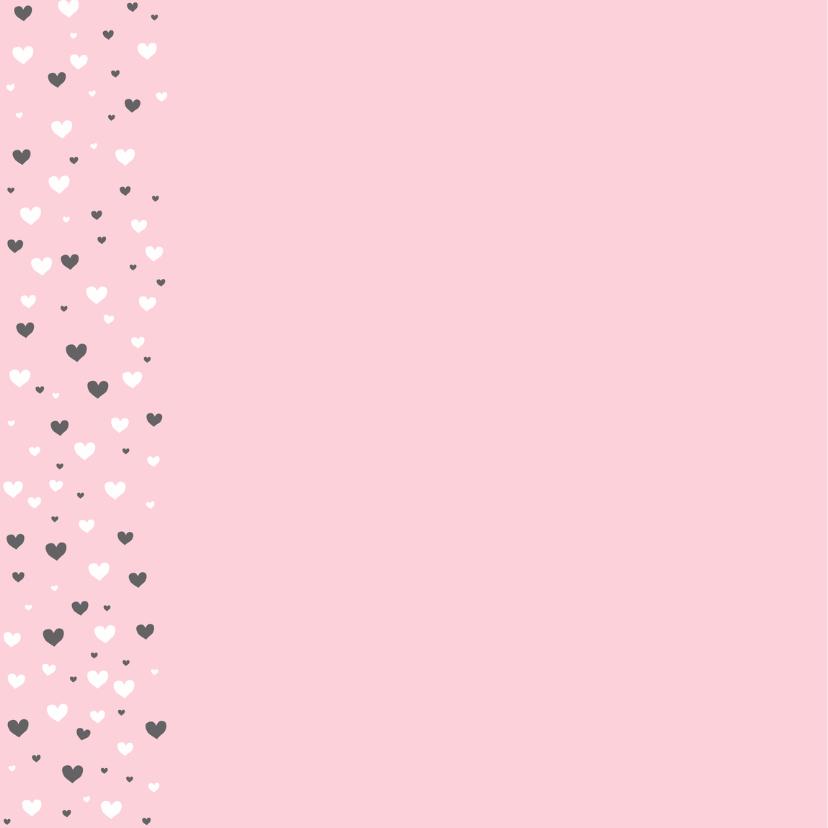 Felicitatie - Veel hartjes, roze 2
