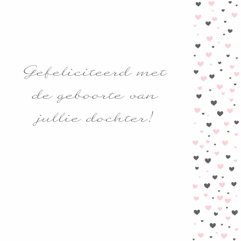 Felicitatie - Veel hartjes, roze 3