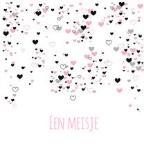 Felicitatiekaarten - Felicitatie - Veel roze hartjes