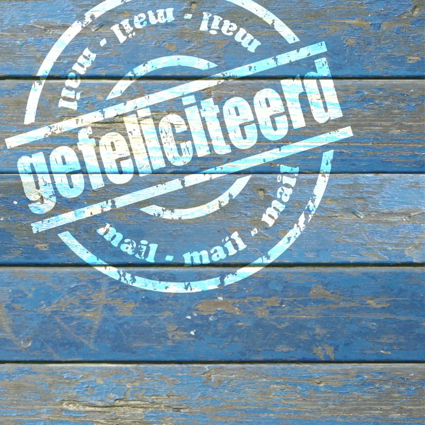 felicitatie verf foto gefeliciteerd hout 2