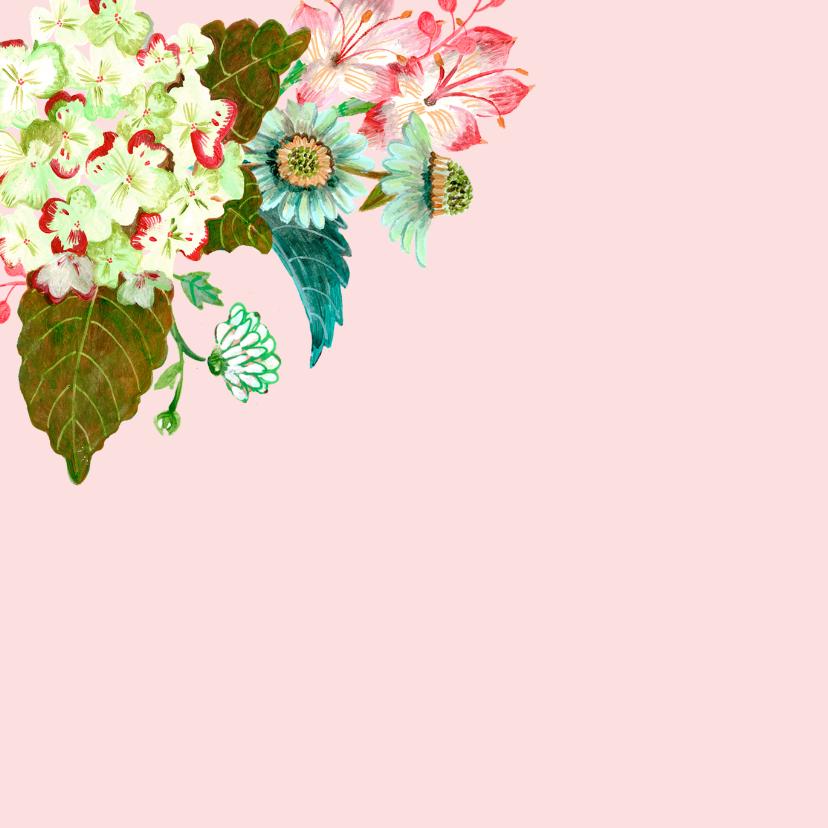 Felicitatie Verjaardag Bloemen krans 2