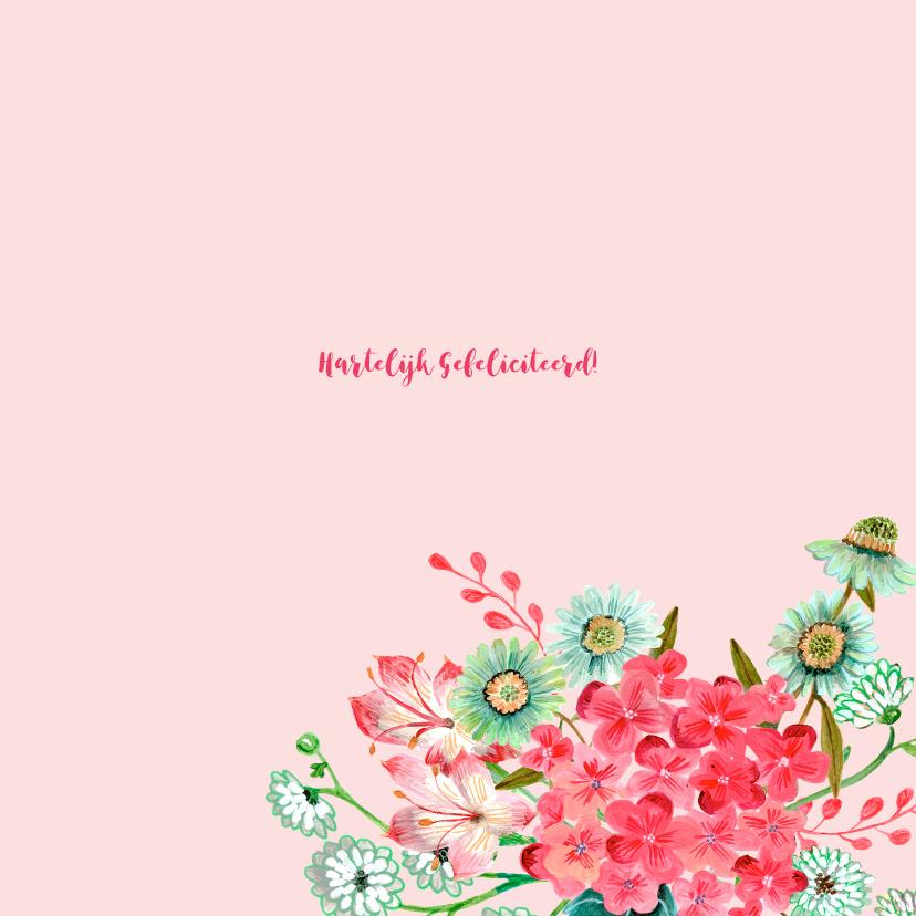 Felicitatie Verjaardag Bloemen krans 3