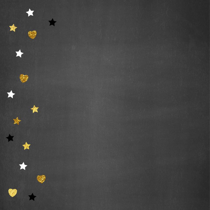 Felicitatie verjaardag goud hart en sterren 2