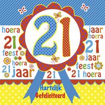Verjaardagskaarten - Felicitatie verjaardag rozet